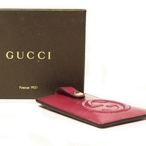 Gucci Soho Patent Leather Card Case Pouch
